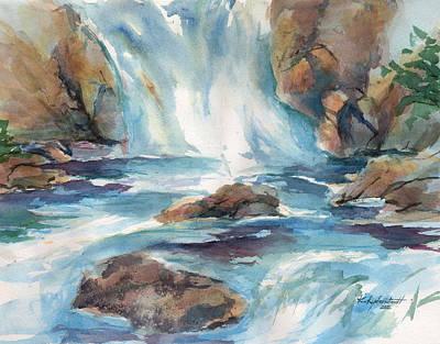 Painting - Rushing Waters by Kerry Kupferschmidt