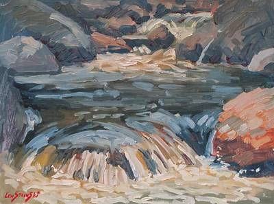 Fast Painting - Rushing Waters by Len Stomski