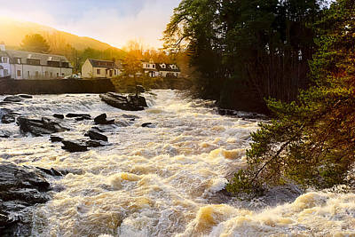 Photograph - Rushing Waters Of The Falls Of Dochart by Mark E Tisdale