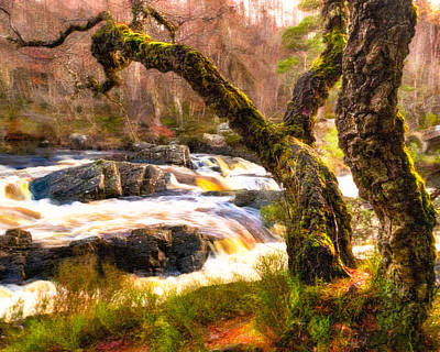 Photograph - Rushing Waters Of The Highland Black Water by Mark E Tisdale