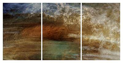 Photograph - Rushing Waters Triptych by Patricia Strand