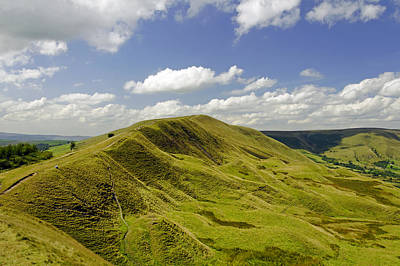 Rushup Edge From Mam Tor Print by Rod Johnson