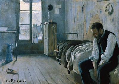 My Bed Photograph - Rusi�ol I Prats, Santiago 1861-1931. My by Everett