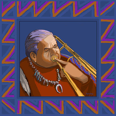 Painting - Russell Big Chief Moore by Suzanne Cerny