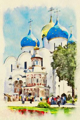 Siberia Digital Art - Russia Churches by Yury Malkov