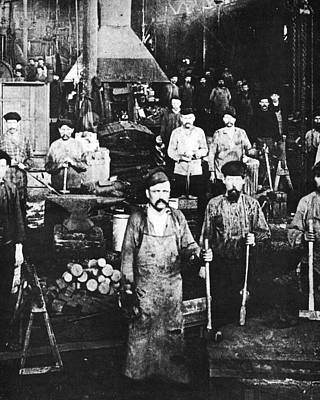 Ironworkers Photograph - Russia Foundry, C1890 by Granger