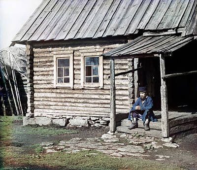 Photograph - Russia Log Cabin, 1910 by Granger