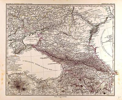 Russia Map 1873 Gotha Justus Perthes 1873 Atlas Art Print