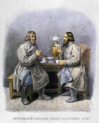 Samovar Painting - Russia Men, C1848 by Granger