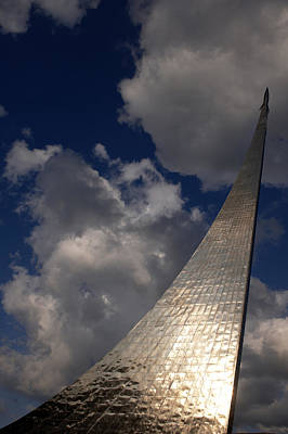 Russia, Moscow, Cosmos Space Monument � Art Print by Tips Images