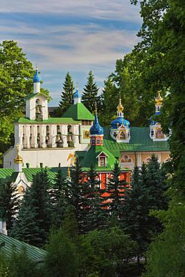 Eastern Orthodox Wall Art - Photograph - Russia, Pskovskaya Oblast, Pechory by Walter Bibikow