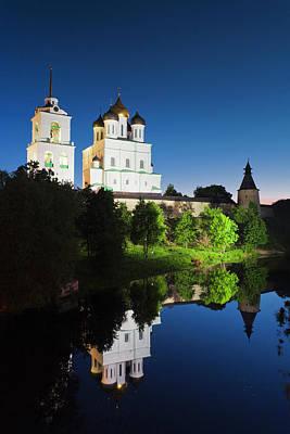 Eastern Orthodox Wall Art - Photograph - Russia, Pskovskaya Oblast, Pskov, Pskov by Walter Bibikow