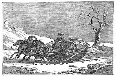 Painting - Russia Sleighing, 1836 by Granger