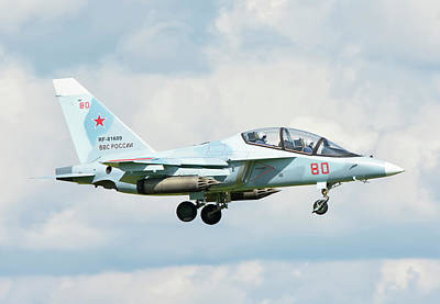 Photograph - Russian Air Force Yak-130 by Giovanni Colla