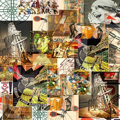 Timeline Mixed Media - Russian Avant Garde 1890 To 1930 by Anders Hingel