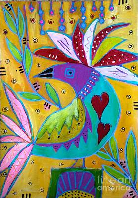 Painting - Russian Bird  by Corina  Stupu Thomas