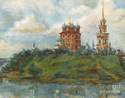 Russian Cathedral Print by Margaryta Yermolayeva