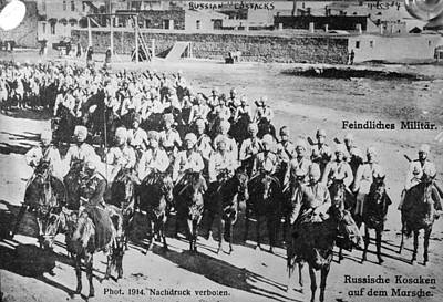 Photograph - Russian Cossacks, C1914 by Granger