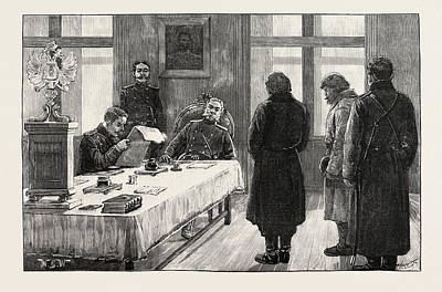 Russian Art Drawing - Russian Criminal Prisoners In Siberia Arrival Of Convoy by English School