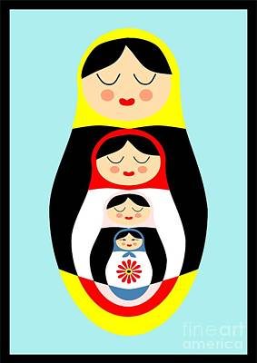 Russian Doll Matryoshka Art Print by Patruschka Hetterschij