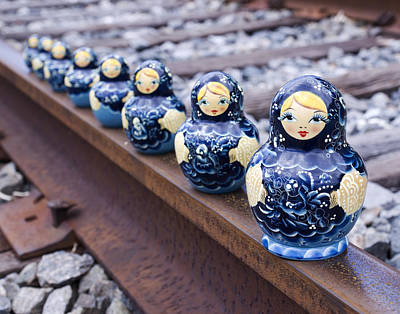 Matryoshka Photograph - Russian Dolls 1 by William Patrick