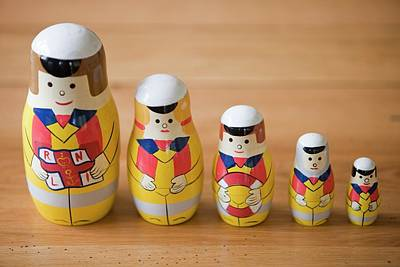 Doll Photograph - Russian Dolls by Ashley Cooper