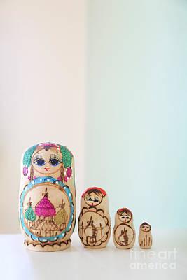 Russian Dolls Art Print by Evelina Kremsdorf