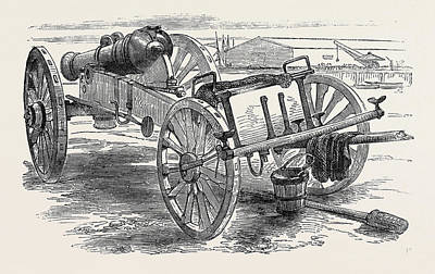 Alma Drawing - Russian Field Gun Captured At The Battle Of The Alma by English School