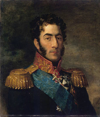 Horizontal Painting - Russian Georgian General Pyotr Bagration by Celestial Images