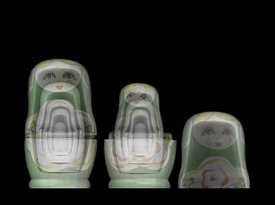 Matryoshka Photograph - Russian Matryoshka Doll Under X-ray by Photostock-israel