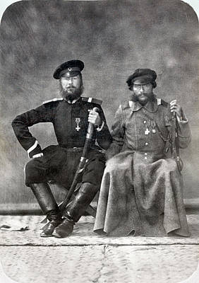 Photograph - Russian Officers, 1870 by Granger