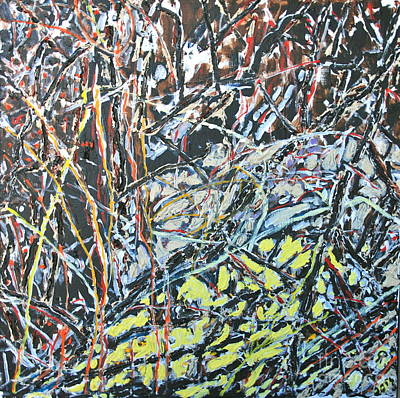 Grande Painting - Russian Olive Thicket by Ray  Petersen