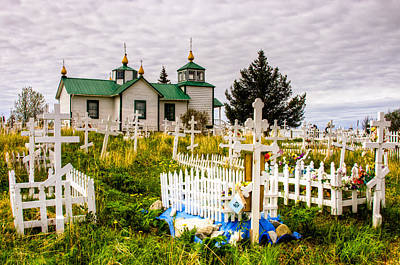 Russian Orthodox Church In Ninilchik Alaska Art Print