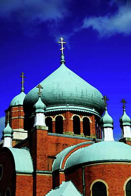 Russian Orthodox Church Print by Karol Livote
