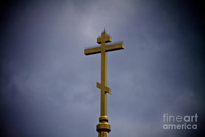 Photograph - Russian Orthodox Cross by William Norton