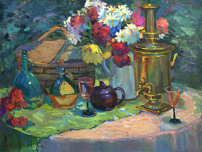 Painting - Russian Picnic Still Life by Diane McClary