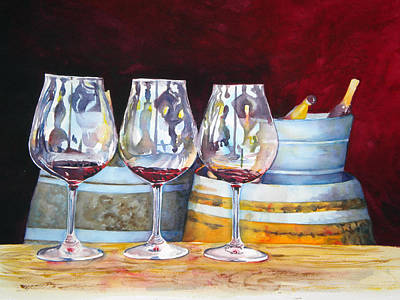 Wine Barrel Painting - Russian River Wine Tasting by Richelle Siska