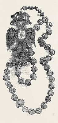 Russian Rosary, Or Reliquary Art Print by English School