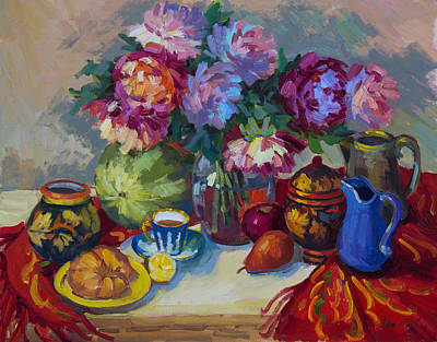 Russian Still Life Original by Diane McClary