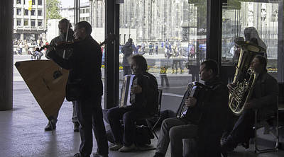 Musicians Royalty Free Images - Russian Street Musicians Royalty-Free Image by Teresa Mucha