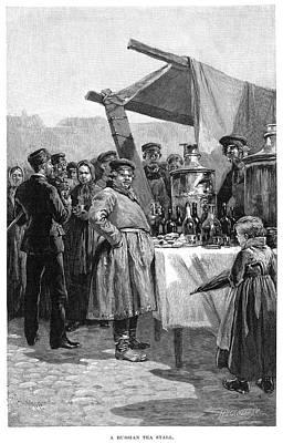 Samovar Painting - Russian Tea Stall, 1890 by Granger