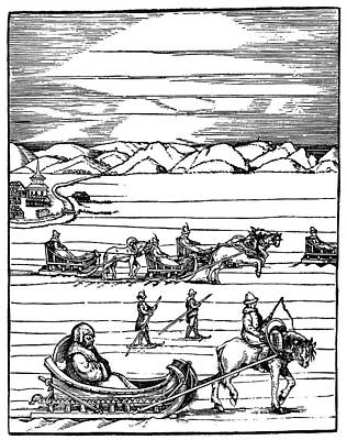 Ski Painting - Russian Travel, 1560 by Granger