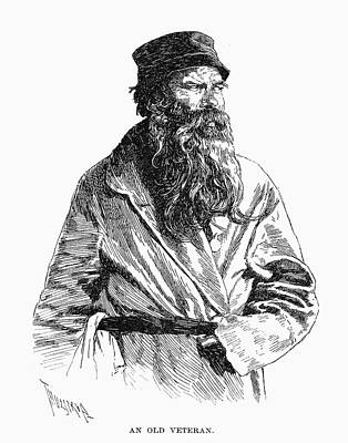 Veteran Drawing - Russian Veteran, 1890 by Granger