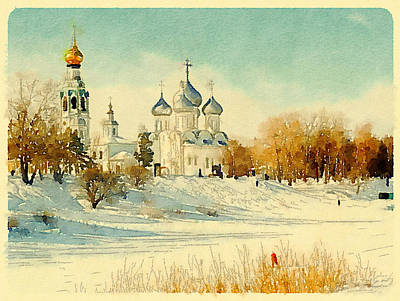 Moscow Digital Art - Russian Winter 2 by Yury Malkov