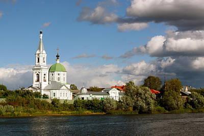 Russian_church_volga-river Art Print by Elena Ouspenskaia