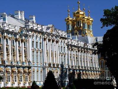 Tourist Attraction Digital Art - Russia's Catherine The Great's Country Palace by Raphael OLeary