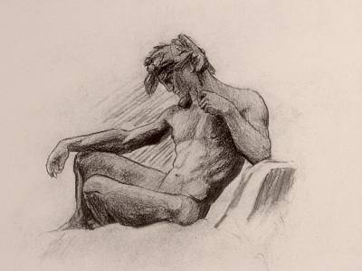 Drawing - Russo Figure by Andrew Sandberg