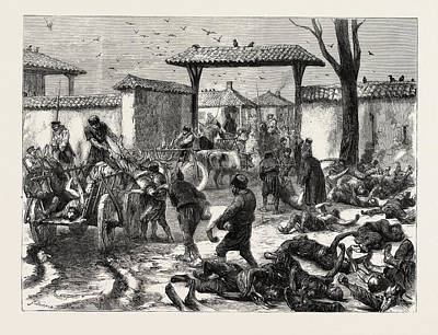 Reality Drawing - Russo-turkish War, Siege Of Plevna The Reality Of War by Bulgarian School