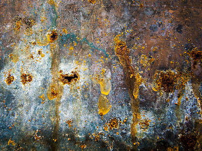 Photograph - Rust Abstract by Jean Noren