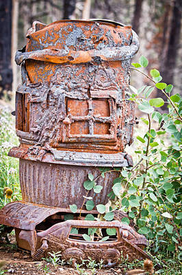 Rust Among New Life - Old Parlor Stove - Casper Wyoming Original